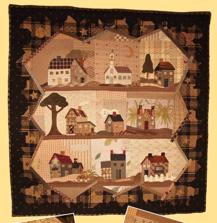 Good Night Quilted Wallhanging Pattern by Yoko Saito
