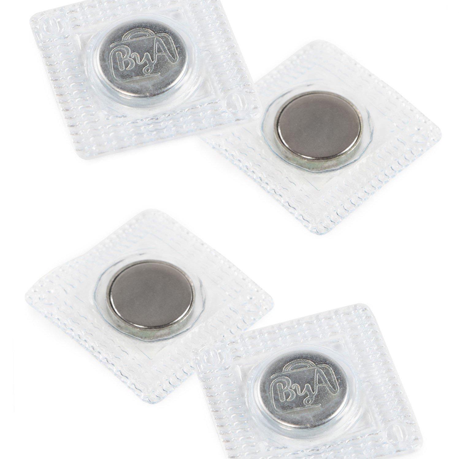 BA - Magnetic Snap Set, Sew-In - 5/8in/14mm - Nickel, Set of 2 HAR-MAG-N-TO
