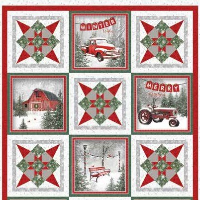 Holiday Wishes Wall Hanging Kit w/Free Pattern