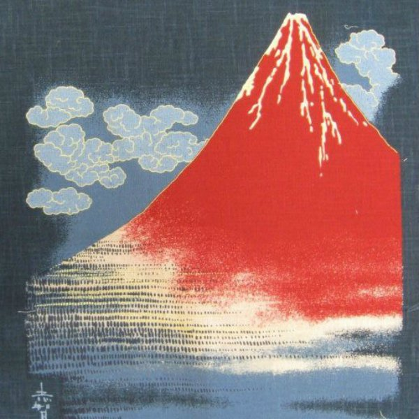 Noren Panel - Mount Fuji - Traditional Hokusai Like Depiction - KP-7290-11