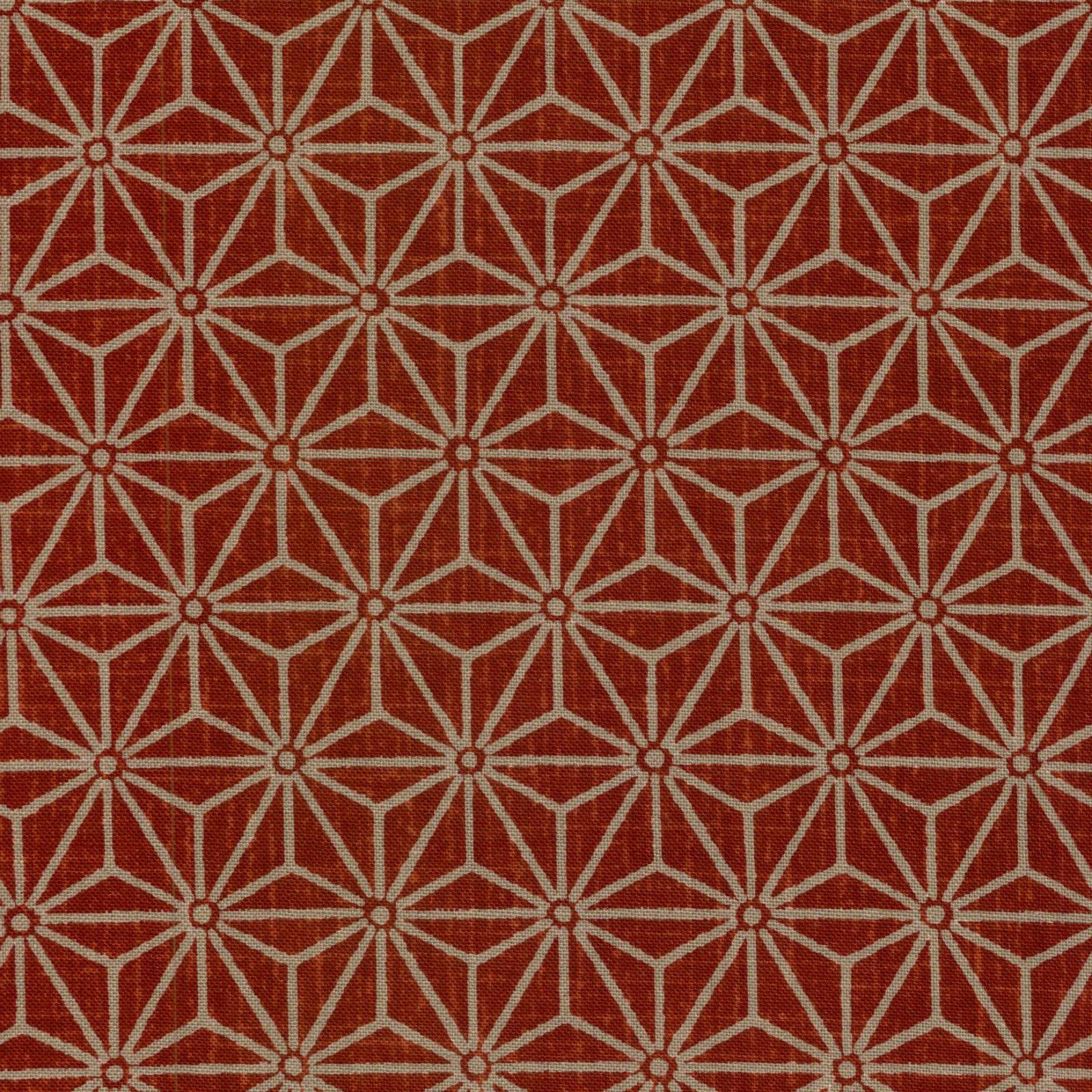 Westex - Burnt Red Hemp Leaf or Asano-ha Tan on Red KW3655-1C