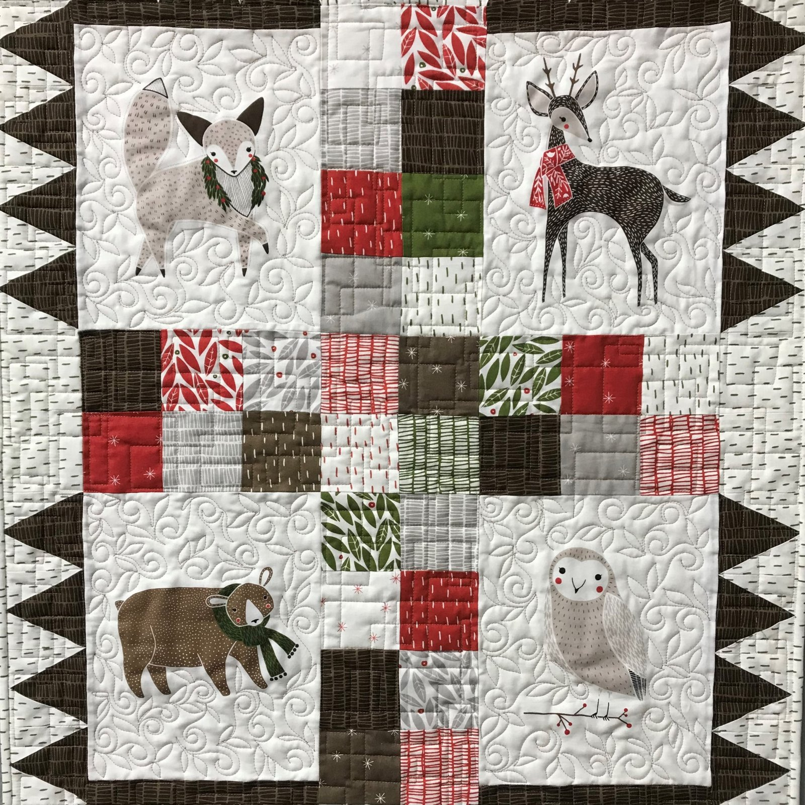 Merrily Wall Hanging Quilt Kit by Quilting Foxes Pattern & Fabric by Gingiber