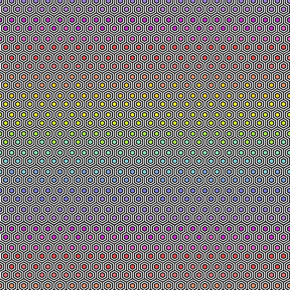 Free Spirit - Tula Pink Linework - Hexy Rainbow Ink PWTP151.INK