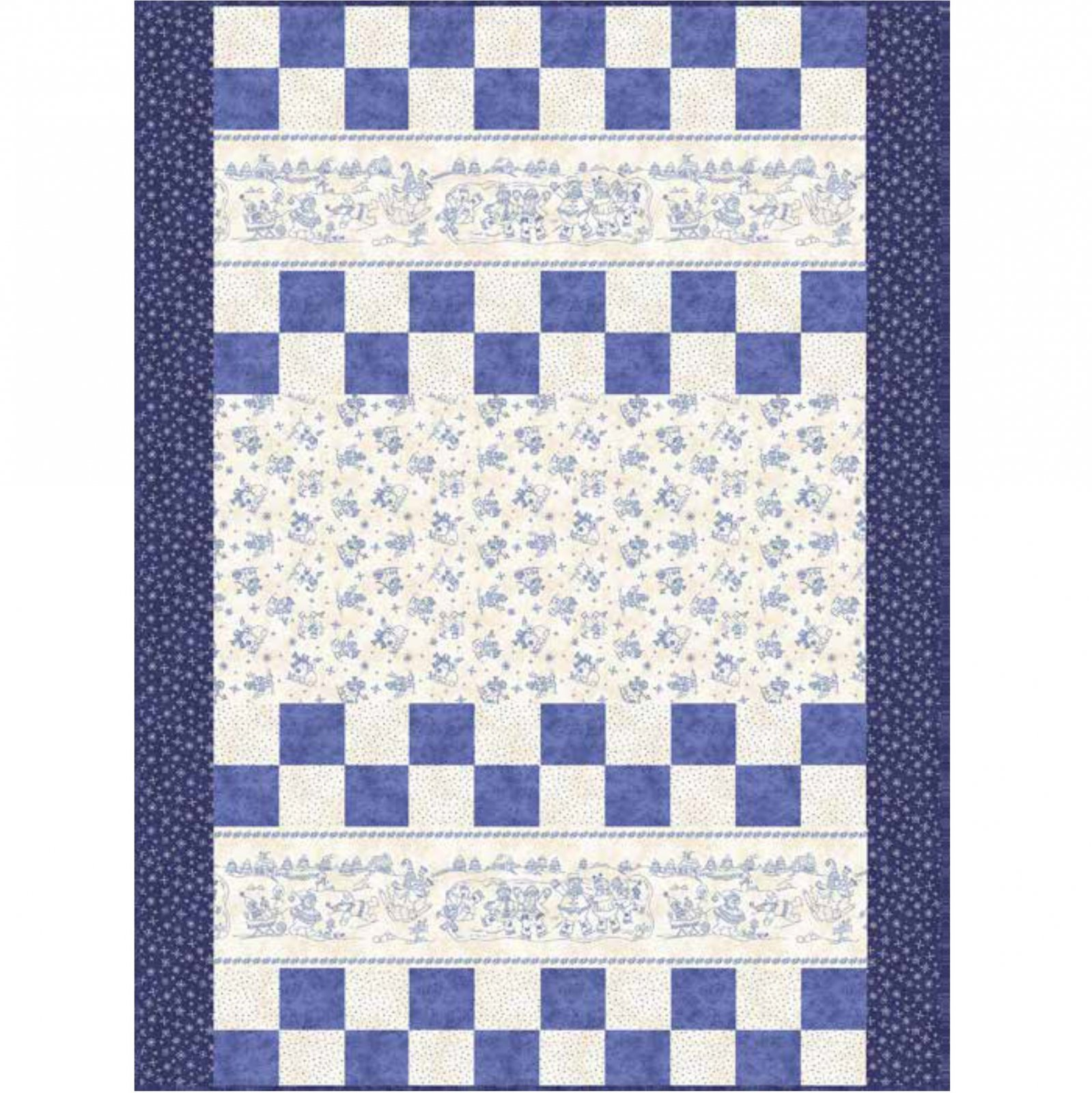 Roly-Poly Snowmen Quilt Kit by Quilting Foxes - On Sale
