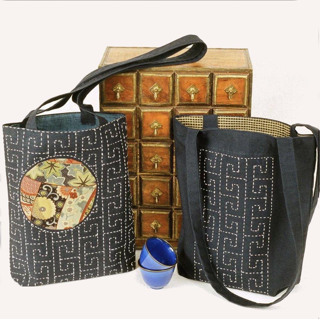 Pattern Sashiko Sayagata Bag by Alderspring Design