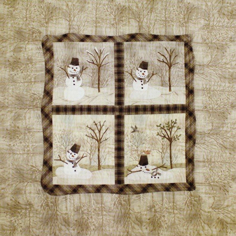Snowman Mini Quilt Pattern By Yoko Saito Fun Winter Quilt