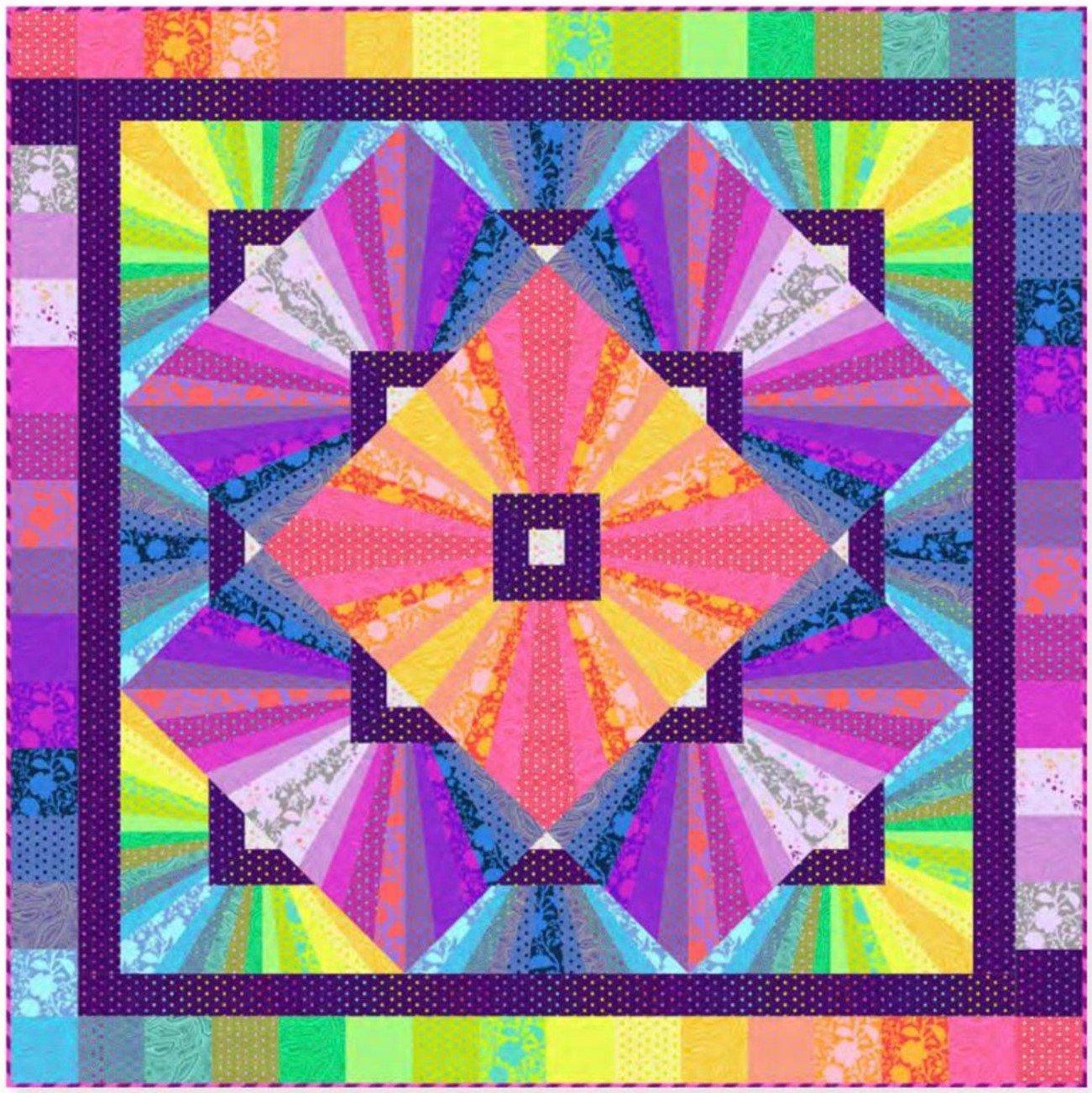 Pre-Order Tula Pink - Tula's True Colors - Solar Flare Quilt Kit - KITQTTP.SOLAR