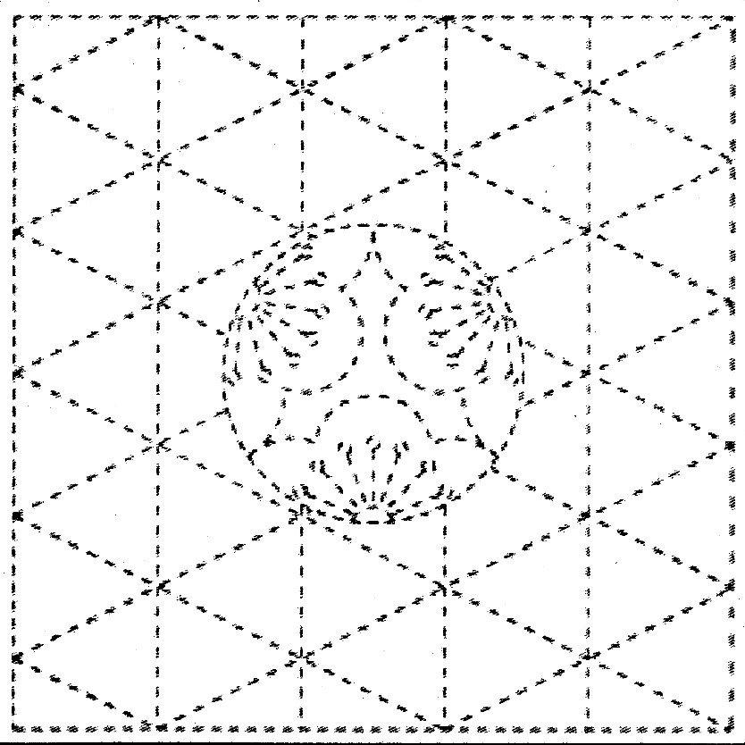 Pre-Printed Sashiko Kit on White Ume-Mon or Plum Crest QFSK-Y0009