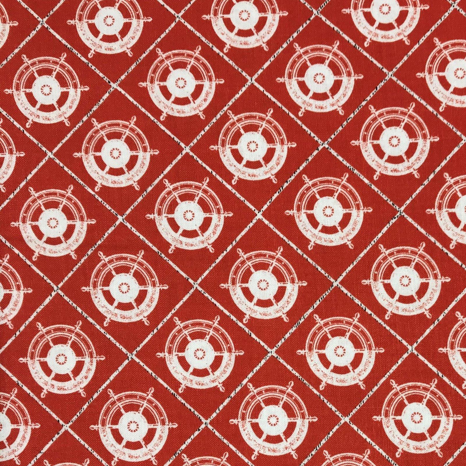 Clothworks - Quarter Deck -  Medium Geometric - Lt Tomato  Y2362