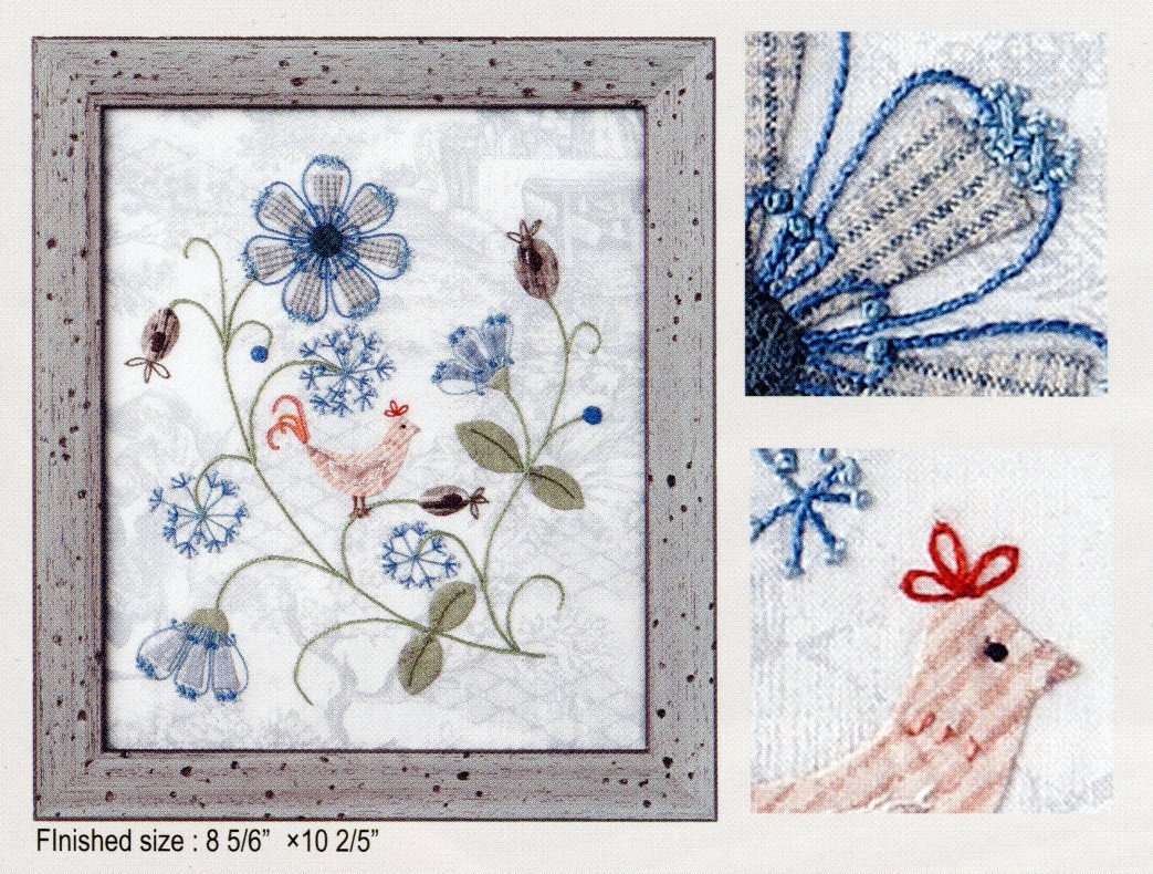 Julstjarna Embroidery Applique Kit Pattern by Yoko Saito, Kit by Quilting Foxes