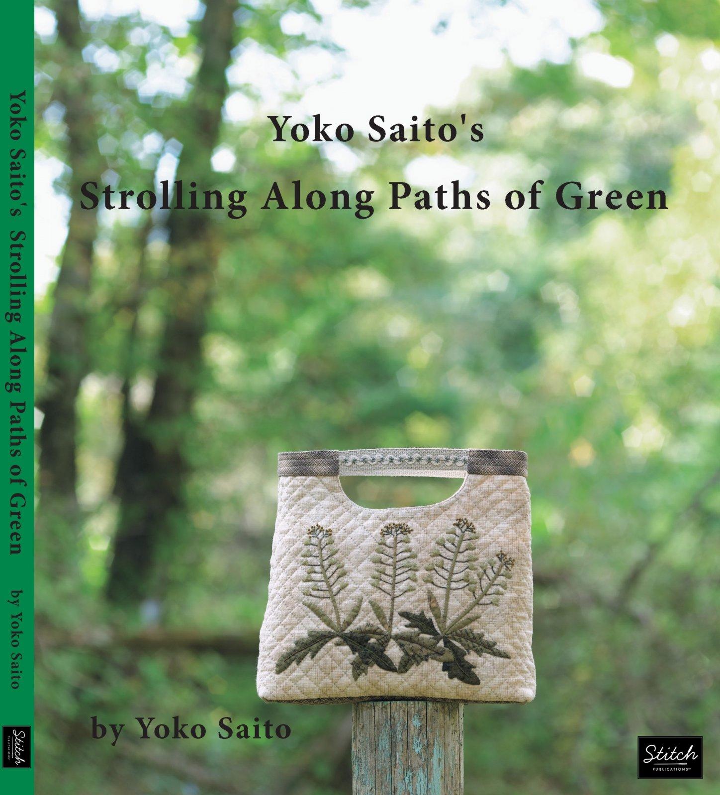 Yoko Saito Book:  Strolling Along Paths of Green - Nature's Regal Color