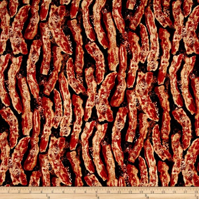 Bacon Sizzling-Black B/G-Timeless Treasures-BTY