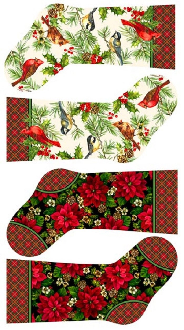 Home for the Holidays Stockings Panel by Northcott Fabrics