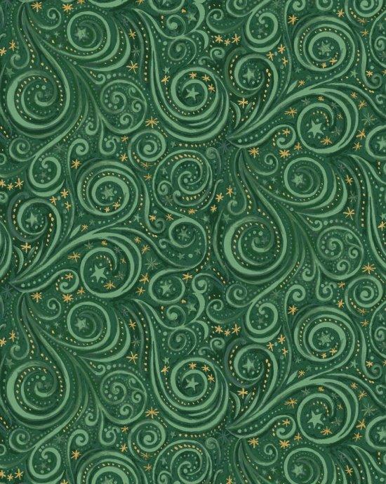 Galaxy Metallic Green-Blank Quilting-BTY