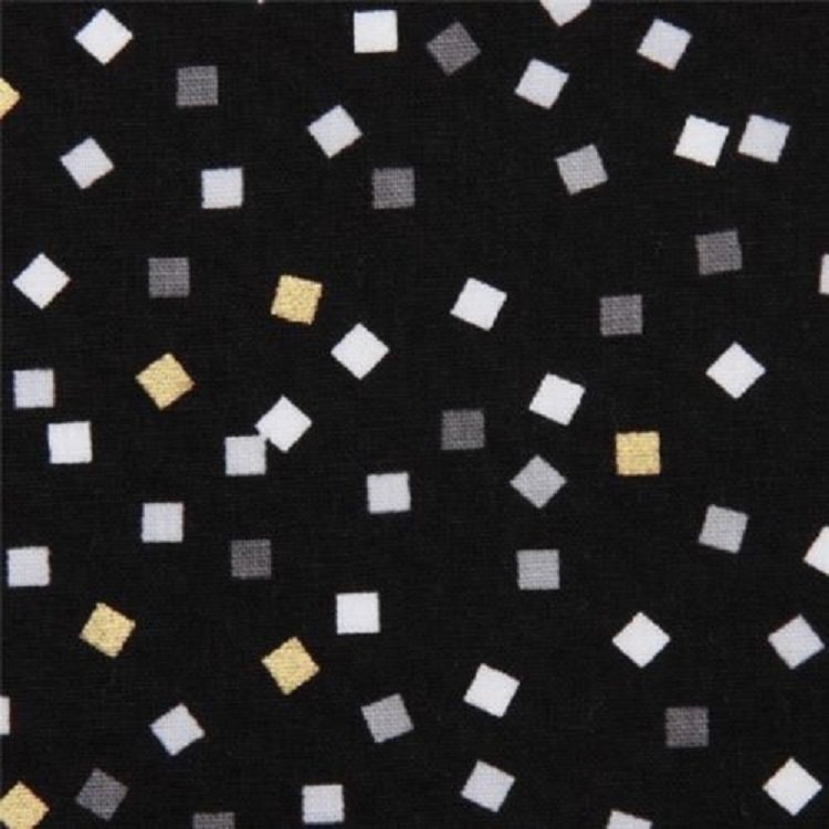 Girlfriends Metallic Confetti on Black B/G-Robert Kaufman-BTY