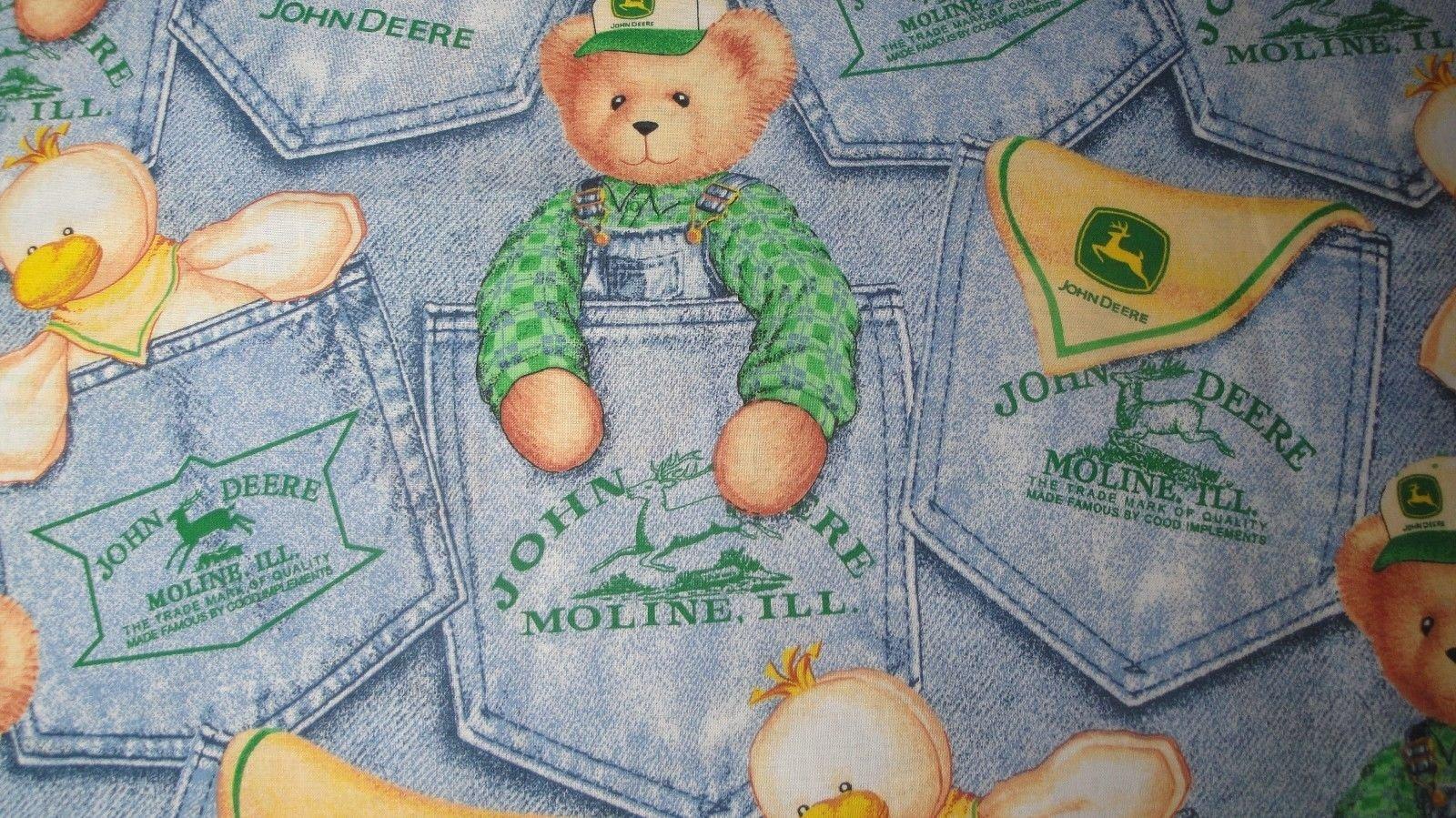 Blue Jean Teddy & Duck-Springs Industries-Fat Quarter