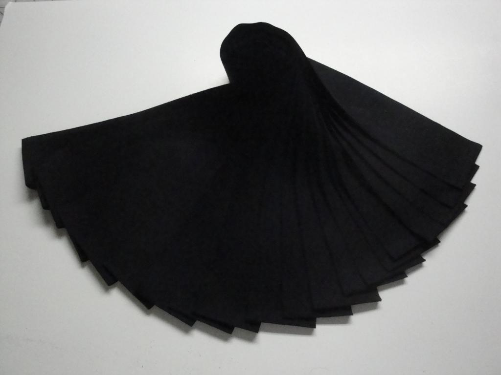 Jelly Roll-Black Kona Cotton by Robert Kaufman