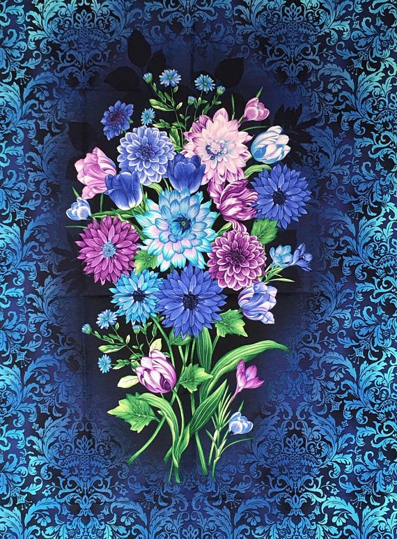 Botanica II Spring Floral Panel by Henry Glass