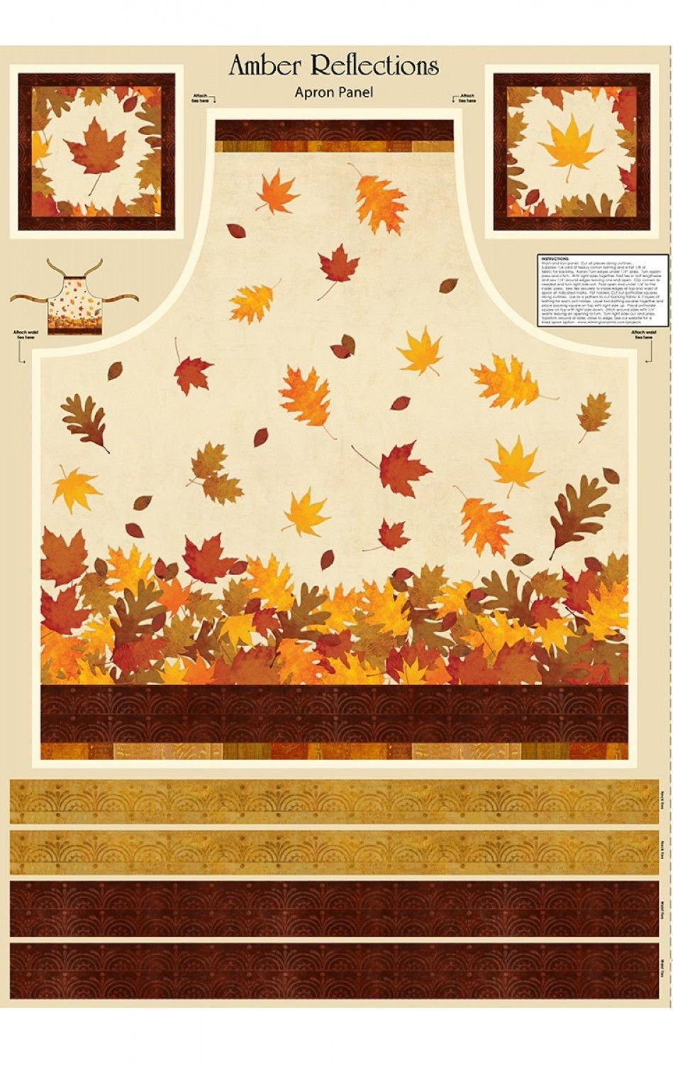 Amber Reflections Apron Panel by Wilmington Prints