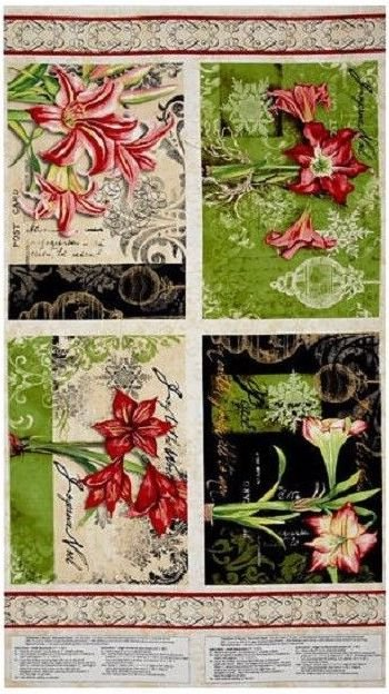 Christmas in Bloom Place-mats Panel by Wilmington Prints