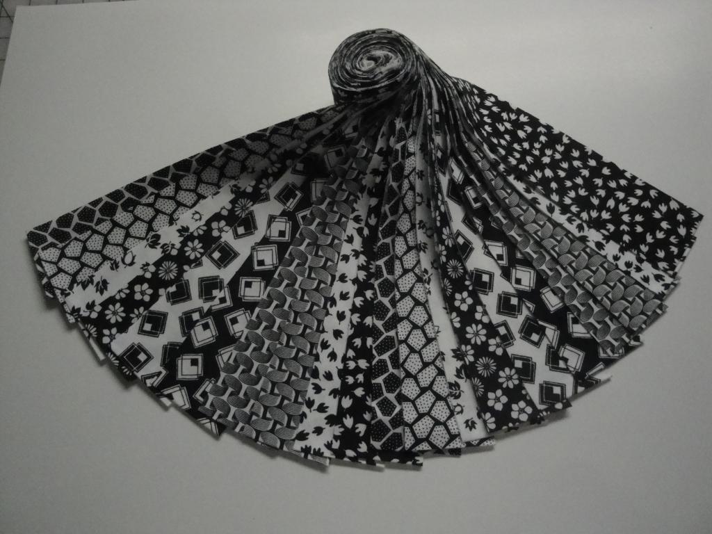 Jelly Roll-Black & White Prints by Choice Fabrics