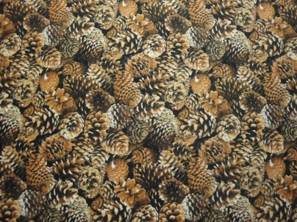 Pine Cones Stacked-Elizabeth Studios-Fat Quarter