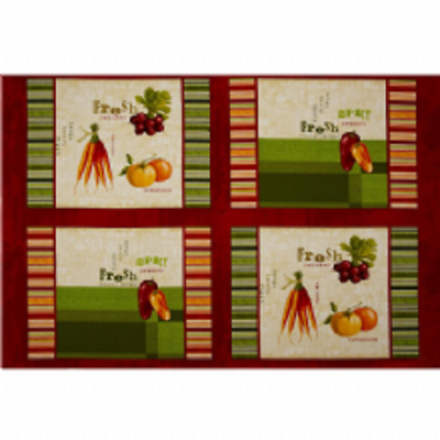 Fresh & Tasty Place-mat Panel by Wilmington Prints