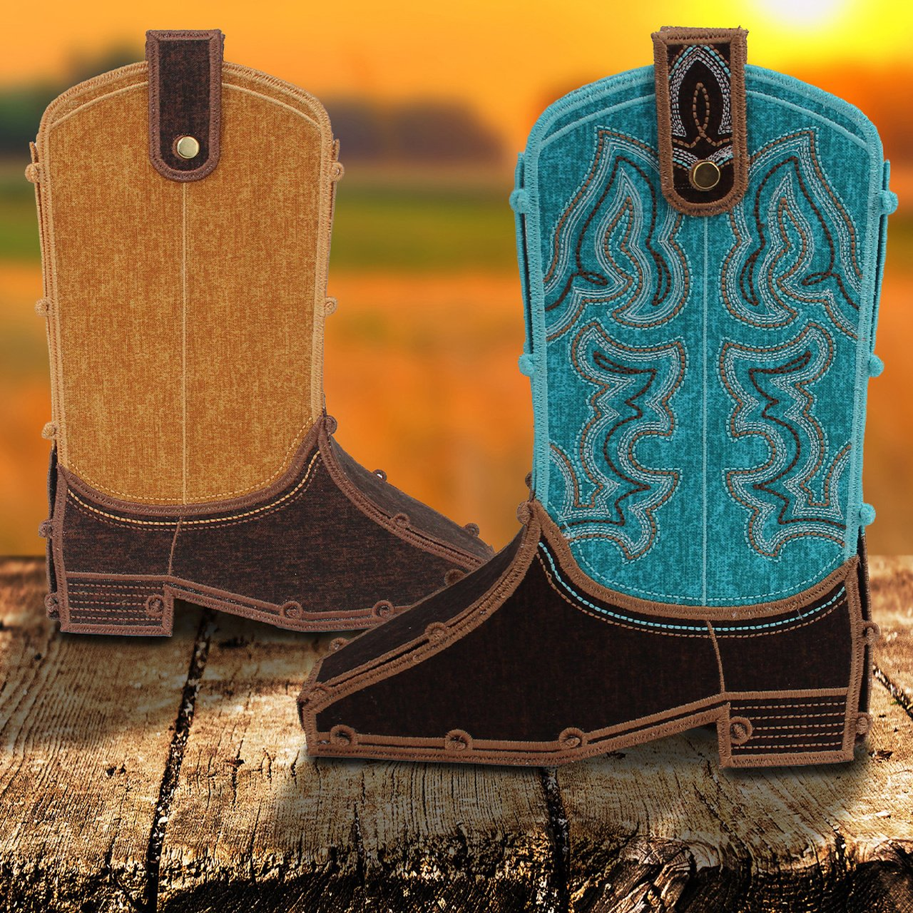 Freestanding Cowboy Boots oesd