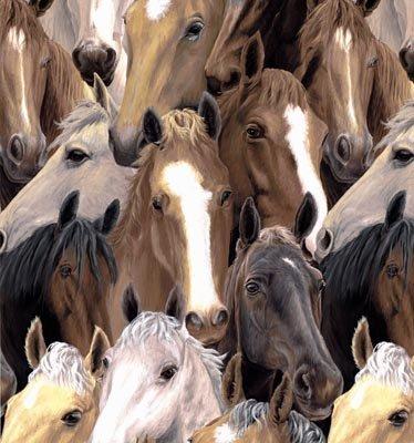 Running Free Horse Heads