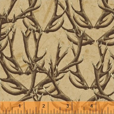 Forest/Tan Horns Windham Fabric