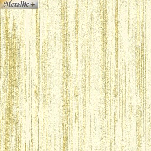 Metallic Text Stripe Cream/Gold