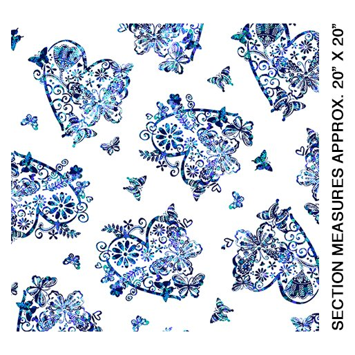 Social Butterfly White & Blue