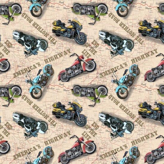 American Dream Motorcicle Cream Blank