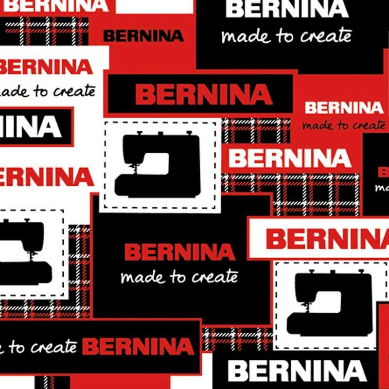 Bernina Logo Patch Black/Red