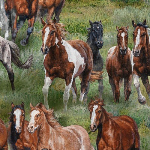Wild and Free all over horse green