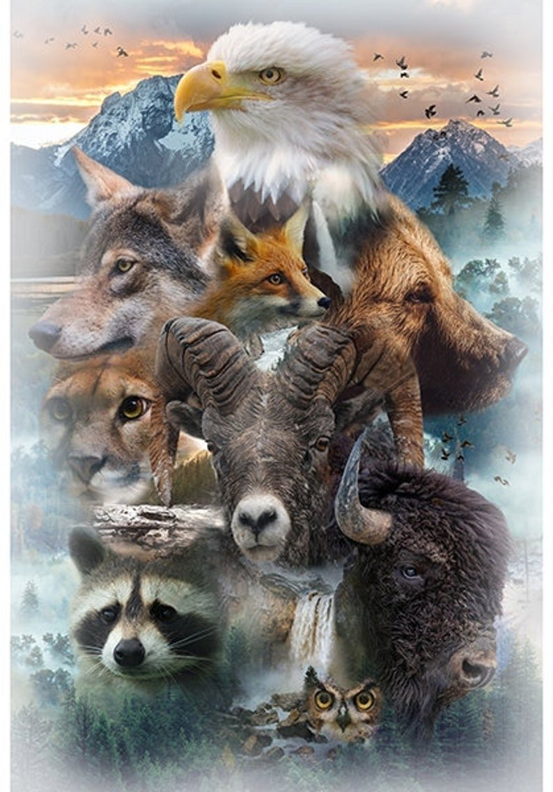 Call of the Wild 4875 Animals Hoffman Panel