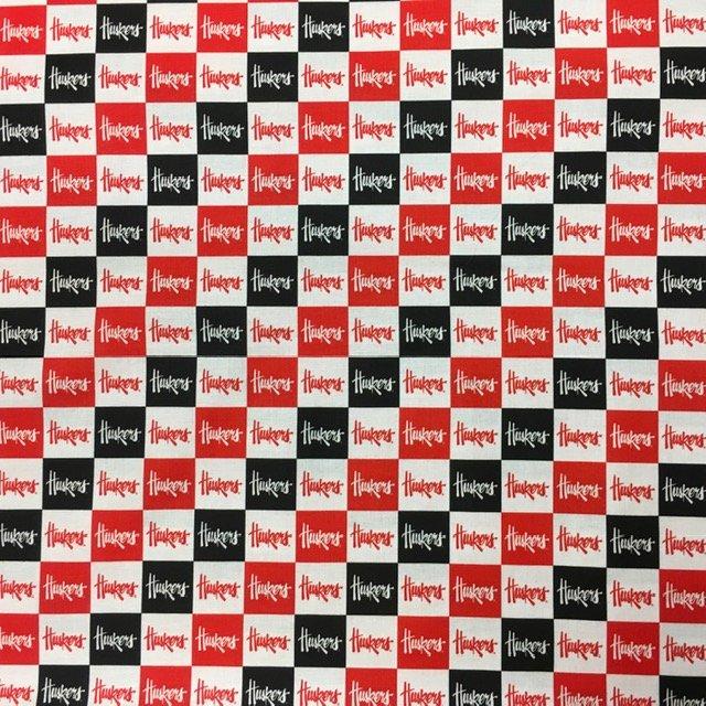 University of Nebraska White/ Red/Black 1 Squares
