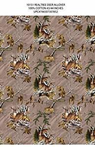 Print Concepts Real Tree Deer on Tan