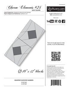 JNQ Charm Elements # 24 Wavy Square