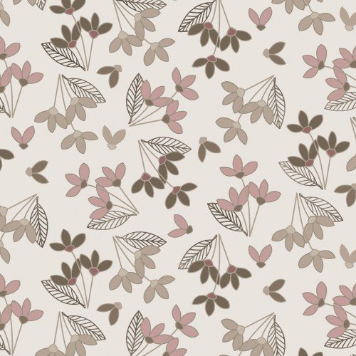 Neutral Ground Taupe/Blush Simple Flowers