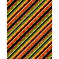 Caliente Peppers Diagnol Stripe