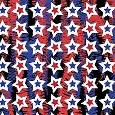 Confetti Stars  Red/Blue