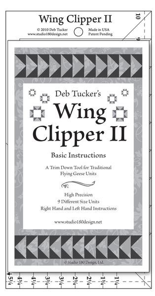 Wing Clipper 2 Ruler Deb Tucker's