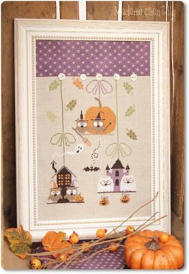 Madame Chantilly Halloween Owls -  Cross Stitch Pattern