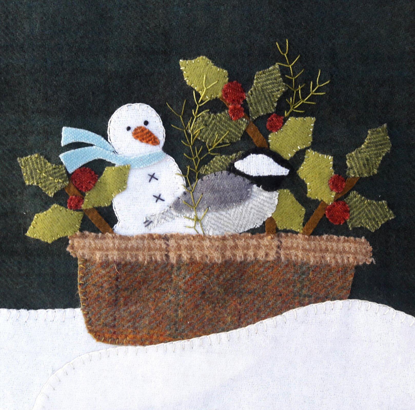 Winter Harvest Basket pattern