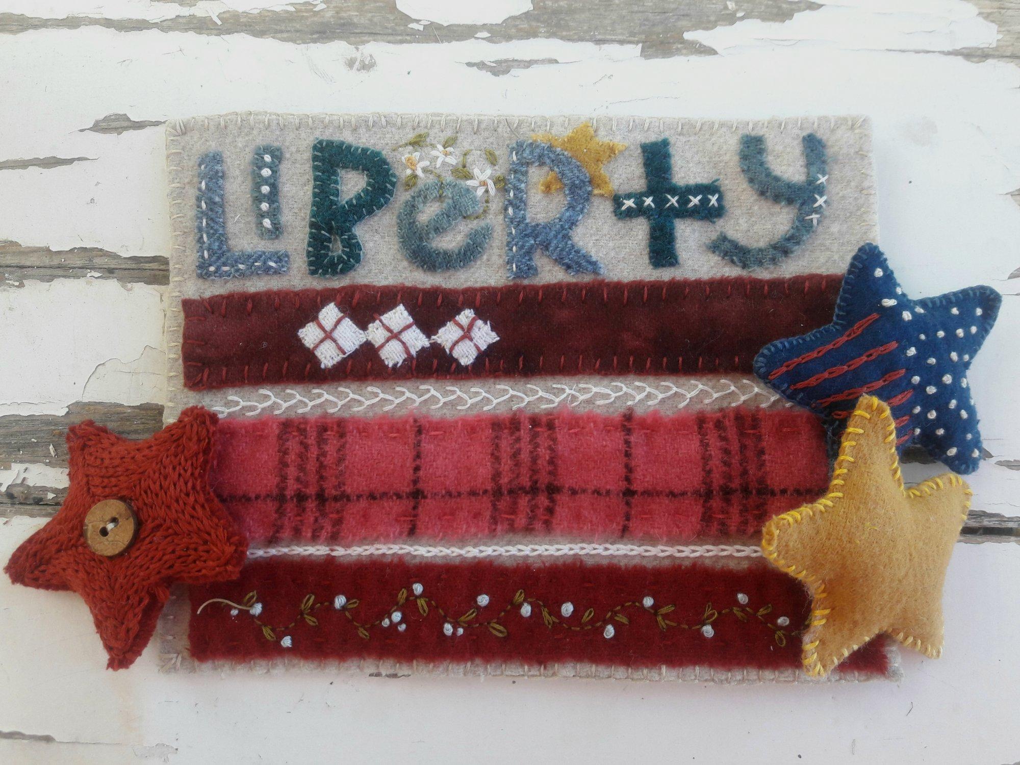 Liberty Wool Stitch Sampler