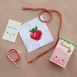 Kawaii Strawberry Mini Cross Stitch Kit In A Matchbox