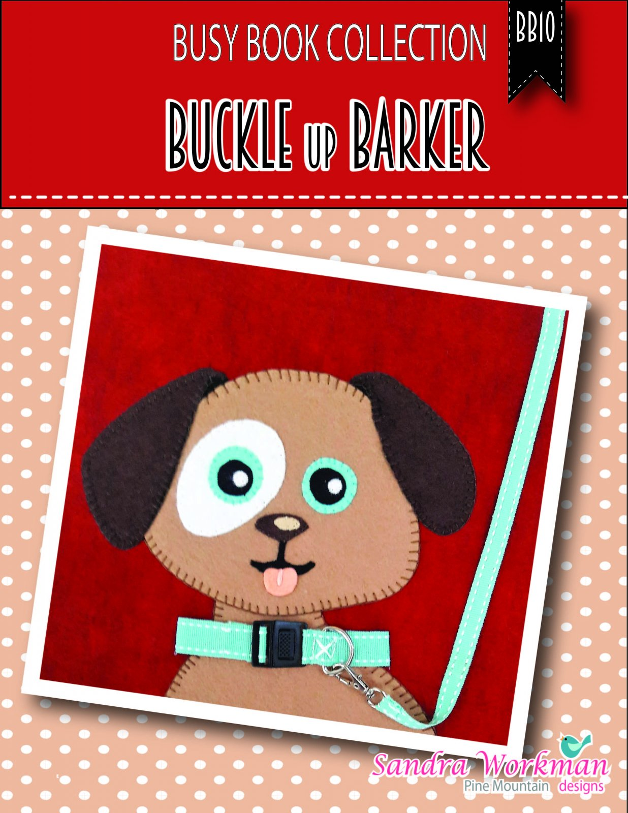 Buckle Up Barker busy book page kit