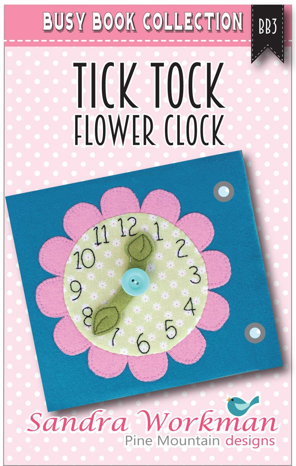 Busy Book Tick Tock Flower Clock