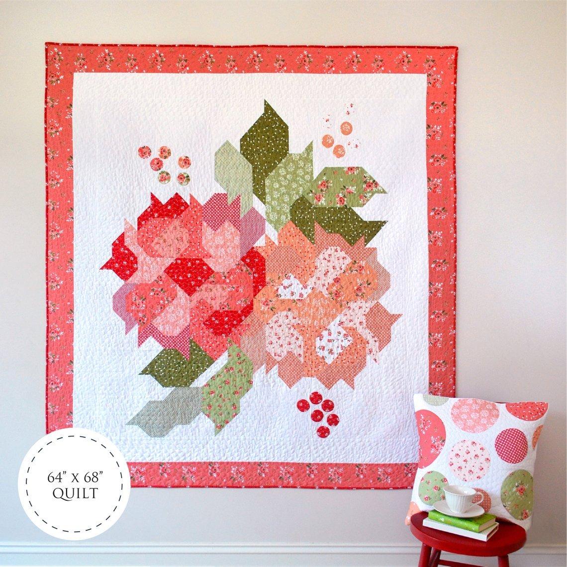 Blushing Blooms Quilt Kit